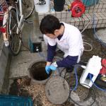 排水管洗浄中②