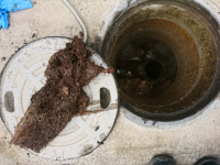 排水管洗浄中①
